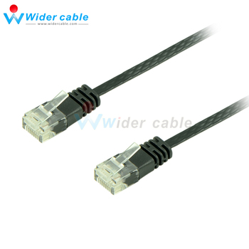 10Pieces 5ft Juoda Spalva RJ45, kad RJ45 Super Butas Ethernet Lan Kabelis UTP CAT6 Patch Cord
